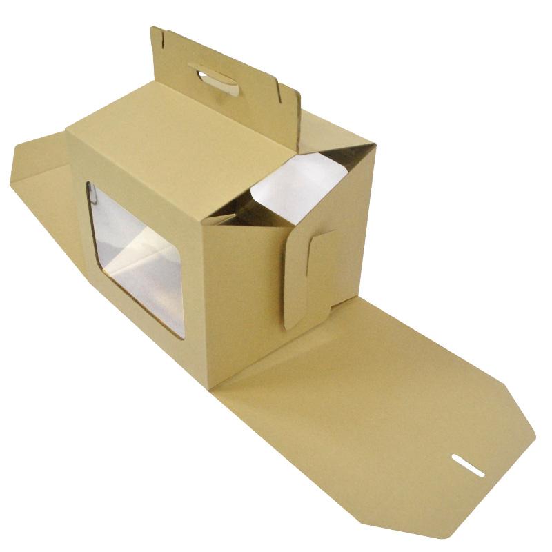 Flute Cake Box Handle 9 Brown Premium Cake Box Cake Box