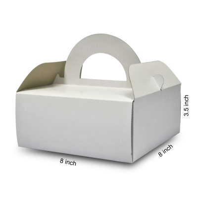 Basic Cake Box with Handle 02 (20pcs)